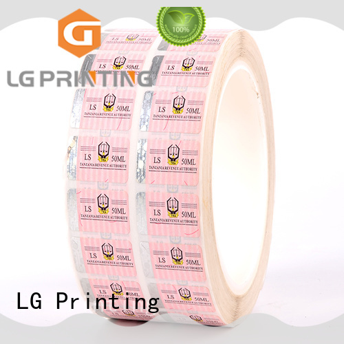 printing security system stickers factory for bag LG Printing