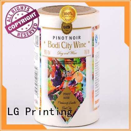 transparent types of packaging bopp supplier for wine bottle