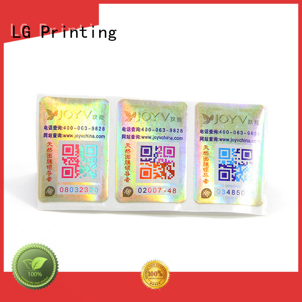 LG Printing Wholesale water proof labels manufacturers for bag