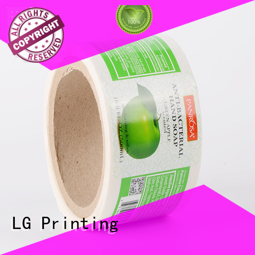 silver wine OEM adhesive labels LG Printing