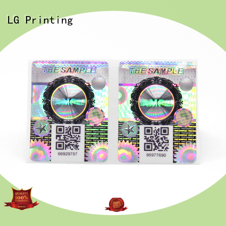 LG Printing Latest silver sticker labels manufacturers for box