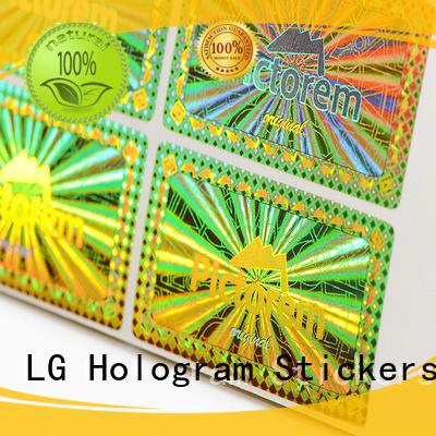 Custom label hologram sticker triangle LG Printing
