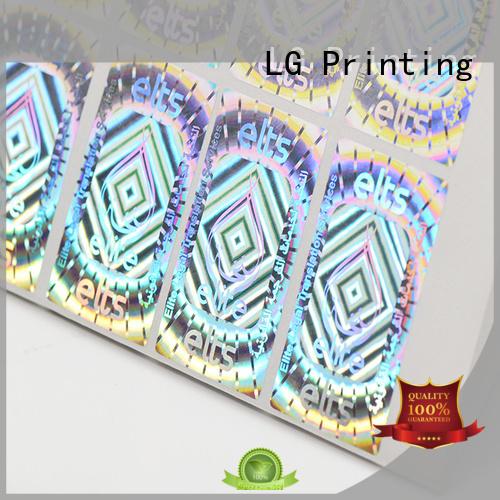 3d hologram sticker printing hologram sticker LG Printing Brand