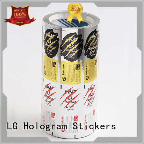 LG Printing silver label manufacturers factory for bottle