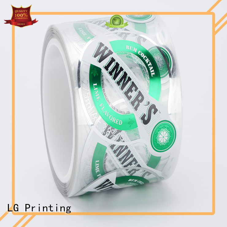 self adhesive label quality transparent adhesive labels printed labels LG Printing Brand
