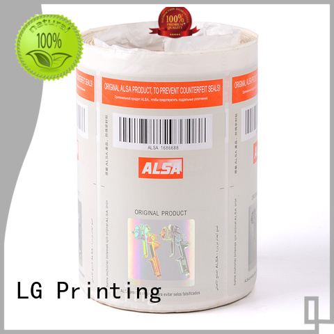 LG Printing 122 personalised hologram stickers manufacturer for products