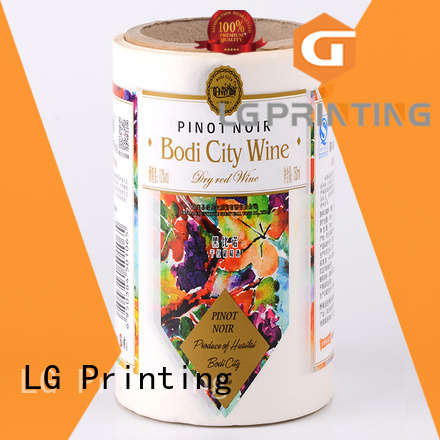 red custom vinyl stickers bopp for cans LG Printing