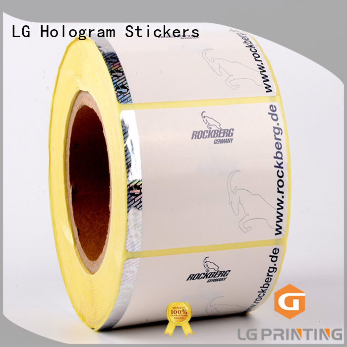 LG Printing printing security alarm stickers manufacturer for box