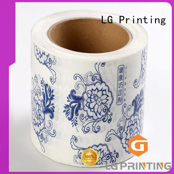 LG Printing gold industrial labels supplier for cans