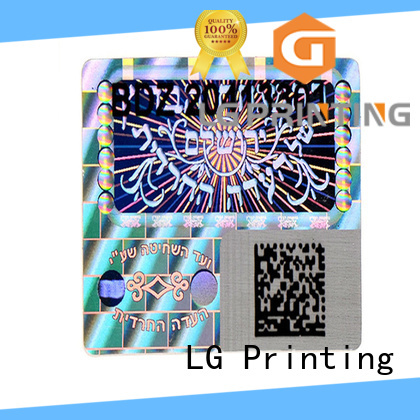 LG Printing golden holo sticker label for box