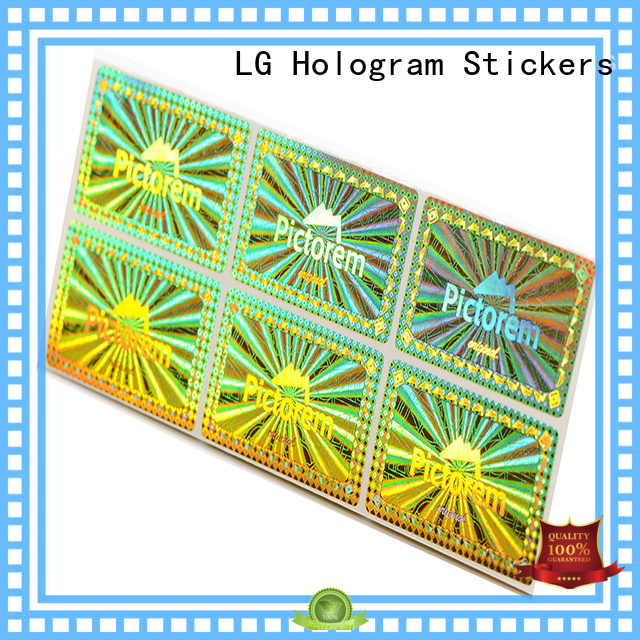 LG Printing various custom hologram sticker series for table
