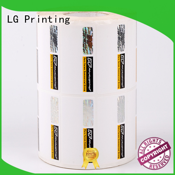 LG Printing sticker security seal stickers supplier for bag