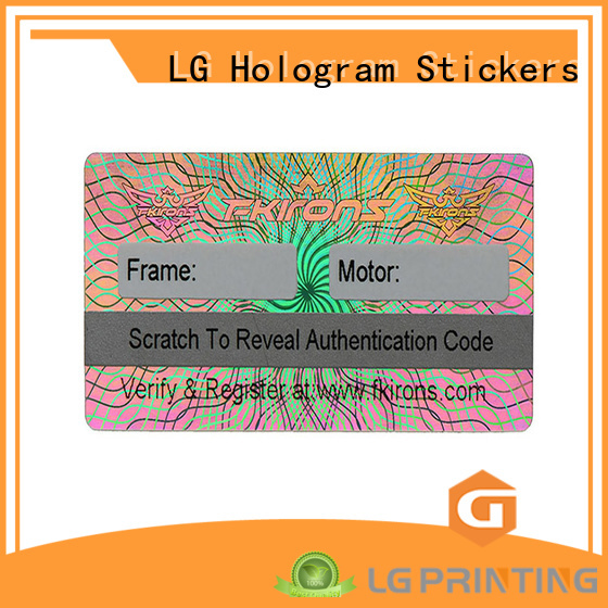 LG Printing time holographic labels label for box