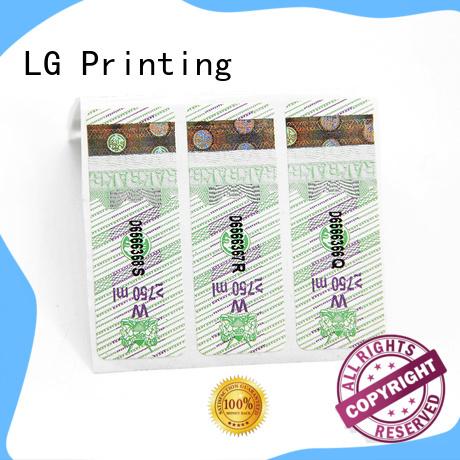 LG Printing vinyl self adhesive labels manufacturers for bag