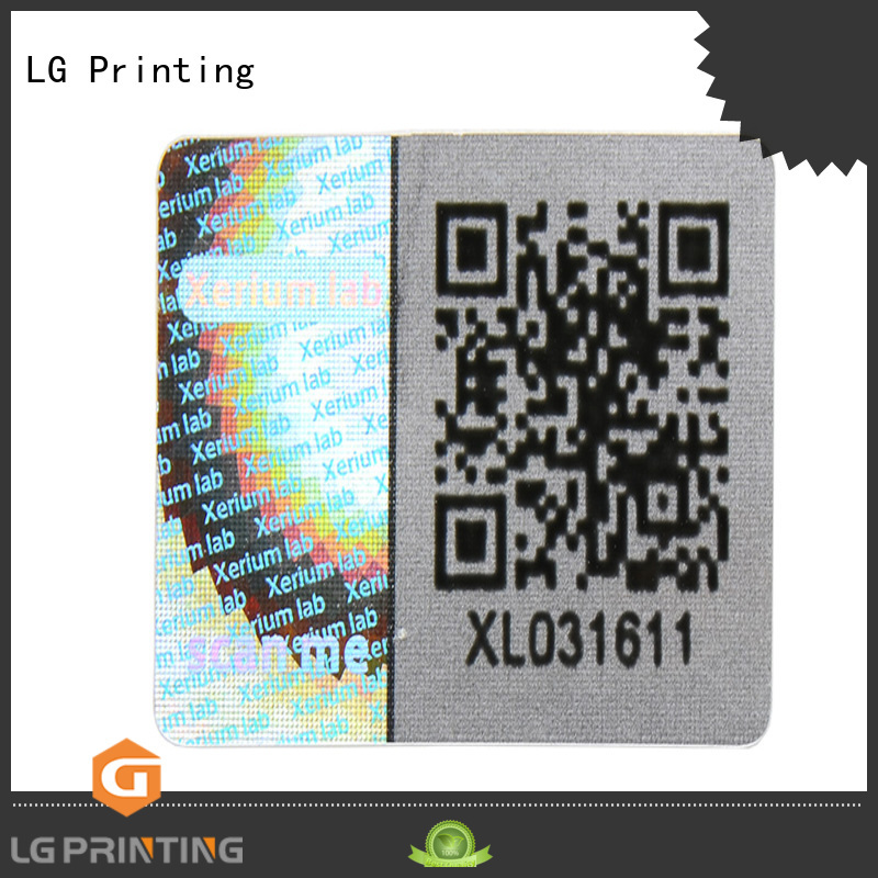 LG Printing scratch off laser hologram sticker manufacturer for table