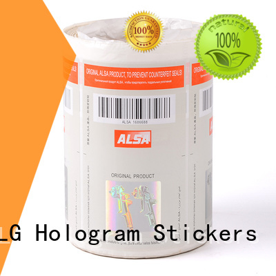 positioned silver serial number anti-fake security hologram labels LG Printing Brand