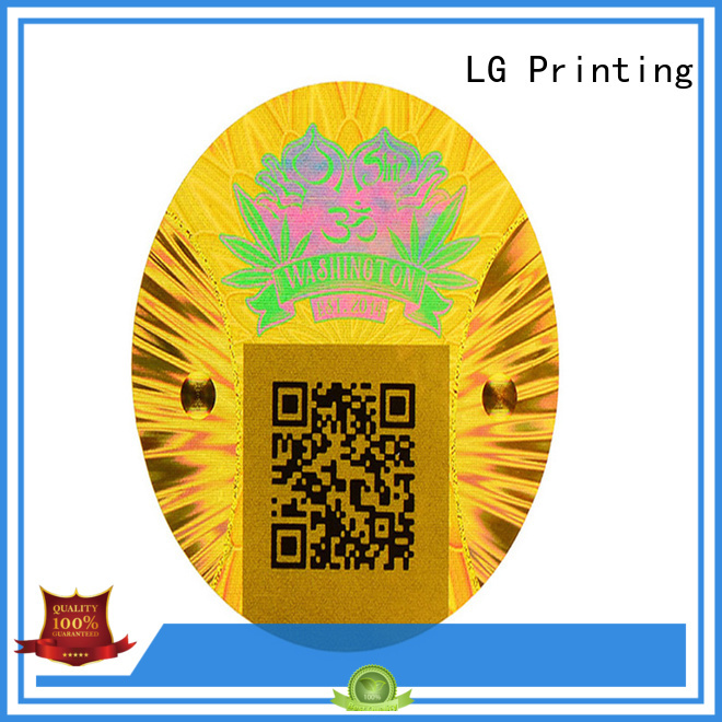 LG Printing barcode hologram label manufacturers series for table