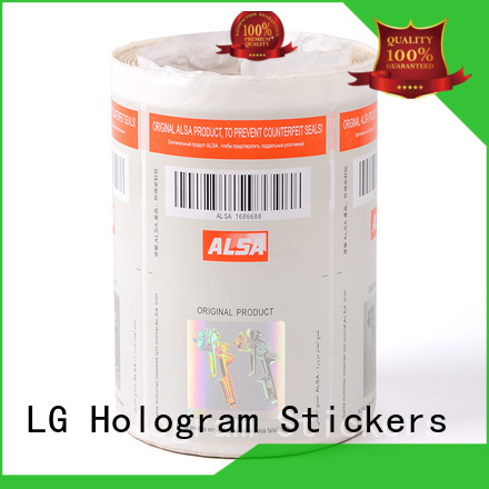 Wholesale counterfeiting security hologram labels serial number LG Printing Brand