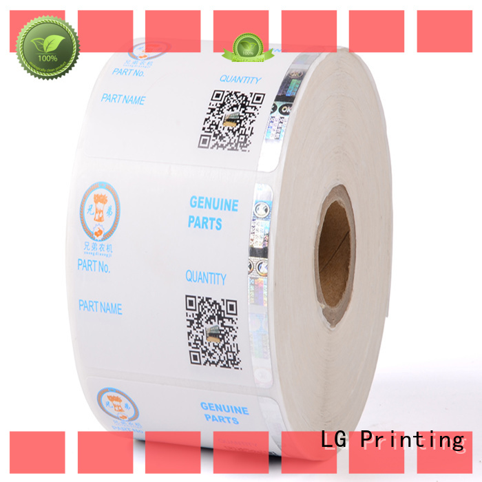 LG Printing standard custom security hologram stickers UV for bag