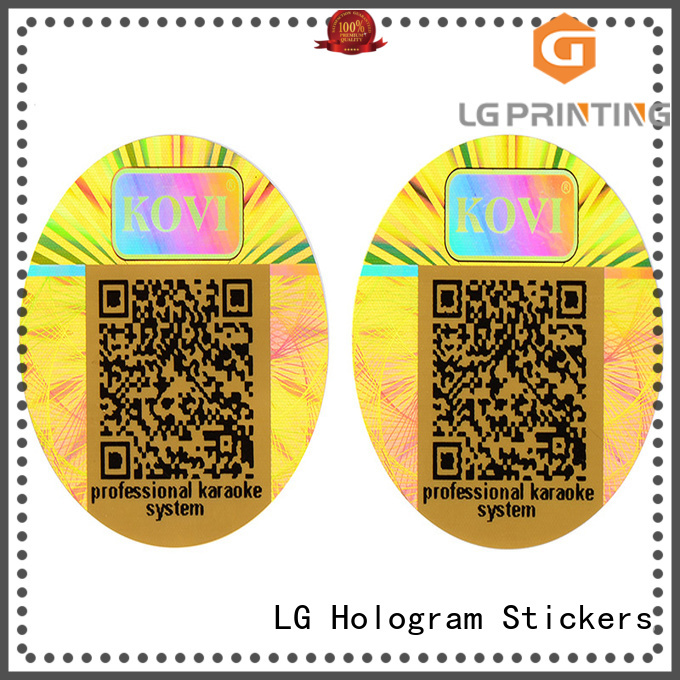 security Custom label hologram sticker qr code LG Printing