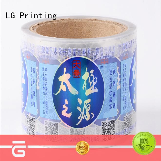 LG Printing metallic vinyl sticker printing series for wine bottle
