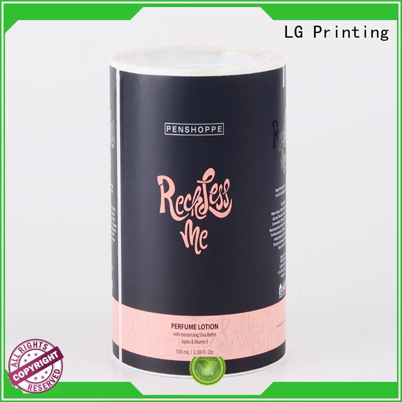 LG Printing Brand wine waterproof custom self adhesive label