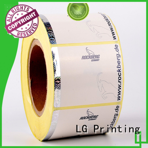 LG Printing PE security hologram stickers labels factory for goods