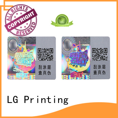 LG Printing scratch off ul listed stickers series for refrigerator