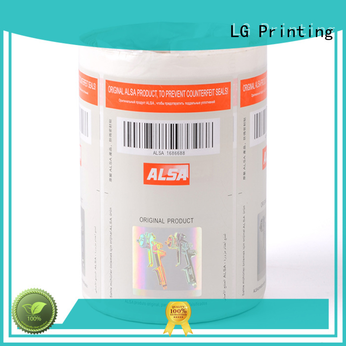 foil hologram security label factory for products LG Printing