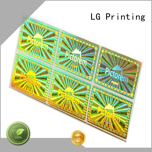 LG Printing numbering holographic sticker printing logo for door