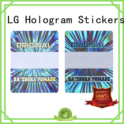 LG Printing scratched custom holo stickers series for door
