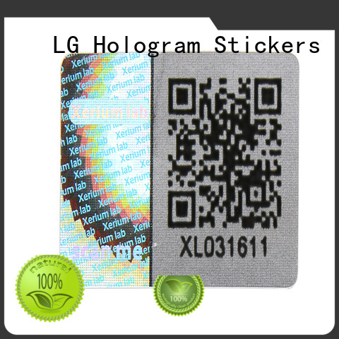 one time personalised holographic stickers scratch off for box LG Printing