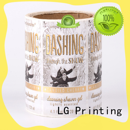 LG Printing metallic sticker factory supplier for cans
