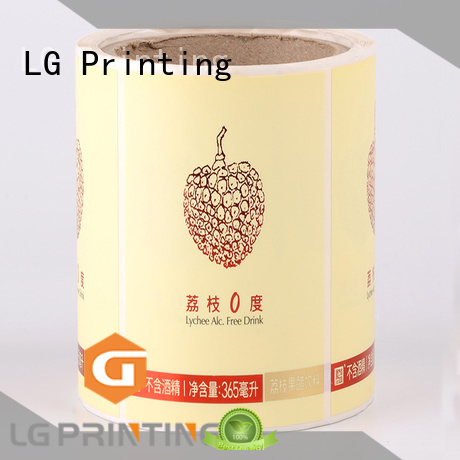 LG Printing bopp types of packaging manufacturer for jars