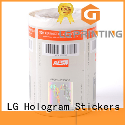 LG Printing counterfeiting security protected stickers sticker for goods