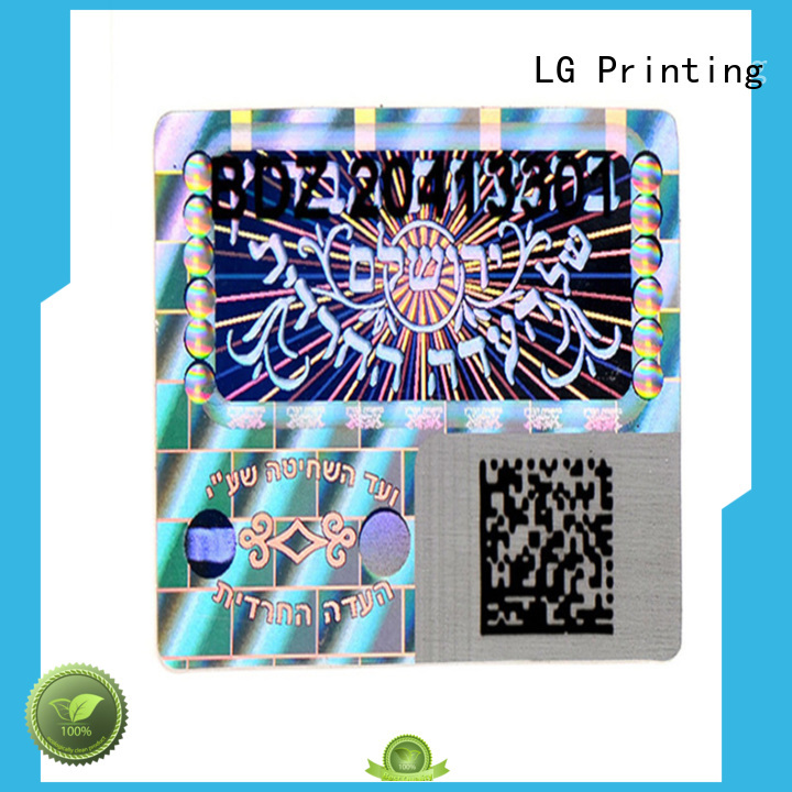 LG Printing colorful custom foil stickers manufacturer for refrigerator