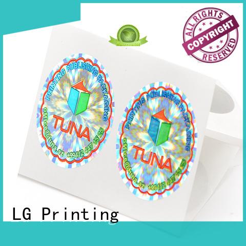 LG Printing gold tamper evident stickers manufacturer for refrigerator