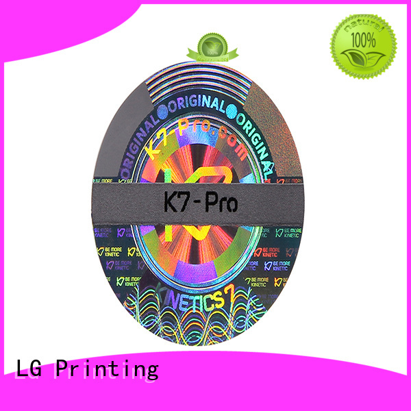 LG Printing colorful 3d hologram sticker hologram for table