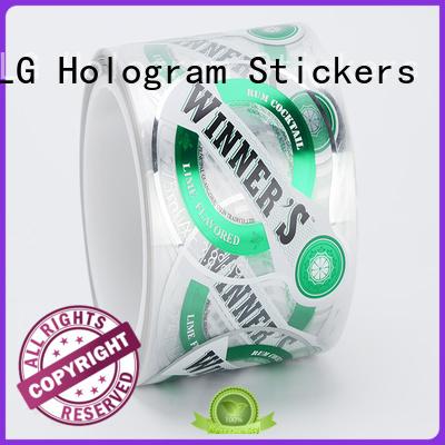 sticker silver LG Printing Brand adhesive labels