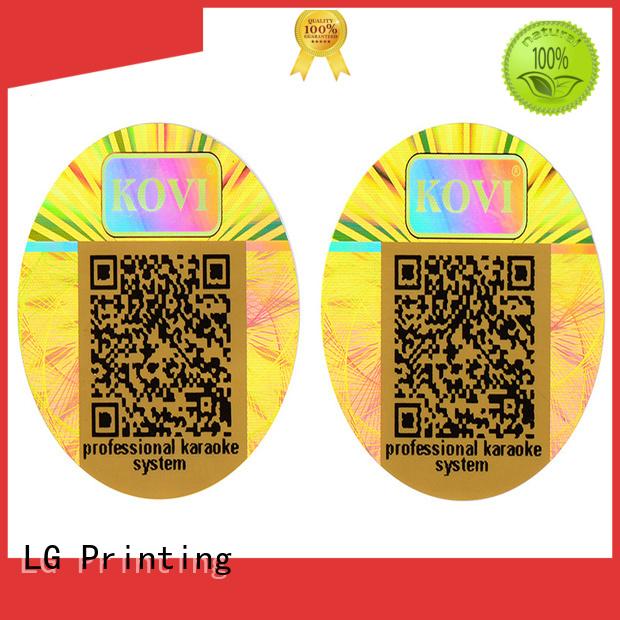 label security 3d hologram sticker void transparent LG Printing Brand