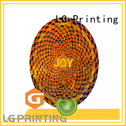 LG Printing gold personalised hologram stickers manufacturer for box