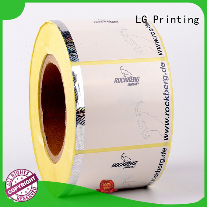LG Printing randomly holographic sticker factory for products