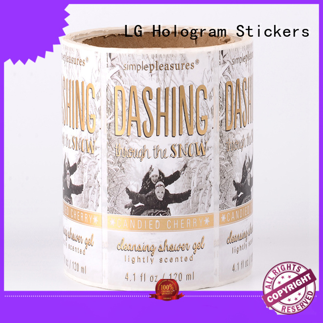 bottle printed labels jar adhesive labels LG Printing Brand company