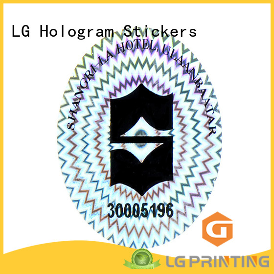 LG Printing numbering custom hologram stickers label for box