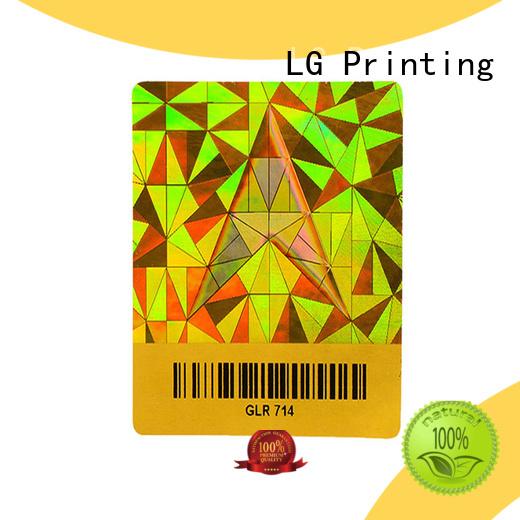 LG Printing void hologram sticker series for box