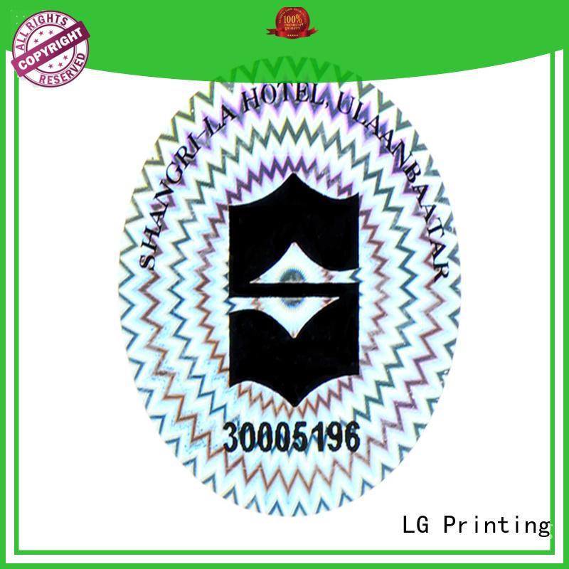 scratch off qr code hologram manufacturer for refrigerator LG Printing