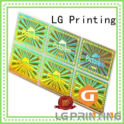LG Printing gold hot stamping foil sticker factory logo for refrigerator