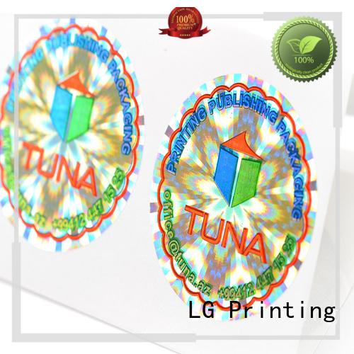 Wholesale rectangle 3d hologram sticker LG Printing Brand
