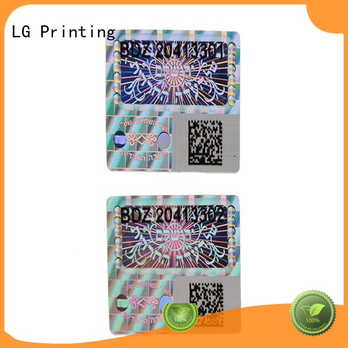 Wholesale rectangle label hologram sticker LG Printing Brand