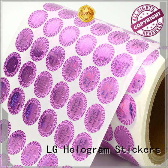 3d hologram sticker qr code triangle void LG Printing Brand hologram sticker